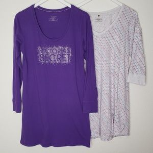 Lot of 2 Victoria's Secret Long Sleeve Nightgowns